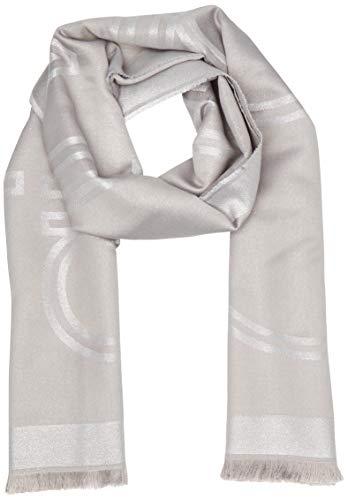 Calvin Klein Damen K60k606174 Mütze, Schal & Handschuh-Set, Grau (Silver 0Im), One Size (Herstellergröße: OS)