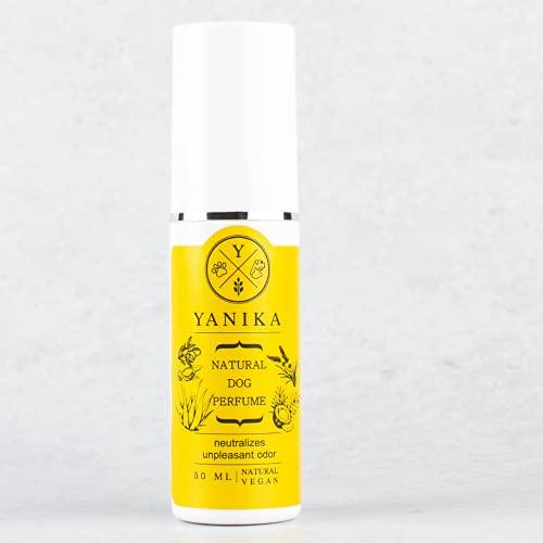 Yanika Parfum de Chien - Longue durée avec l'Odeur d'Agrumes Frais - neutraliser Odeur désagréable. 100% Naturel-végétarien.