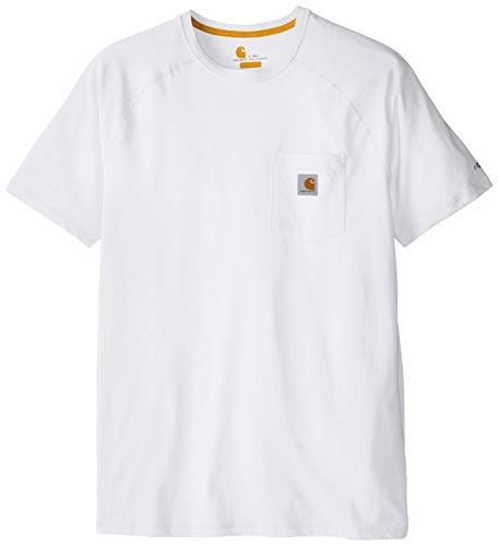 Carhartt Herren Force Cotton Delmont Kurzarm T-Shirt (Regular and Big & Tall Sizes) - Wei - XXX-Large Hoch