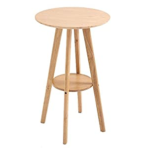 DESIGN SCANDINAVO: Questo tavolo alto da bar in stile scandinavo è costruito interamente in legno, ed è perfetto per creare un'atmosfera chic e ricercata. VERSATILE: Con il suo stile semplice ma moderno, questo tavolo alto da bar è l'ideale per arred...