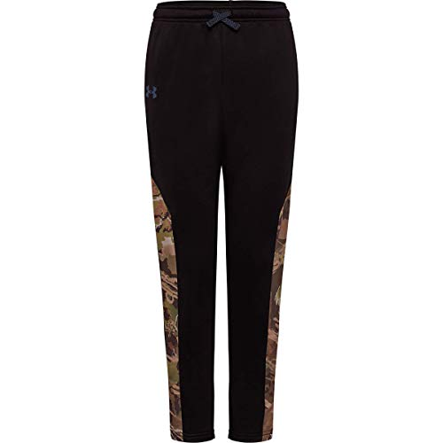 Under Armour Unisex-Kinder Ua Hunt Pants, Unisex-Kinder Jungen, Jogginghose, Ua Hunt Pants, 001 Schwarz, Youth/Small