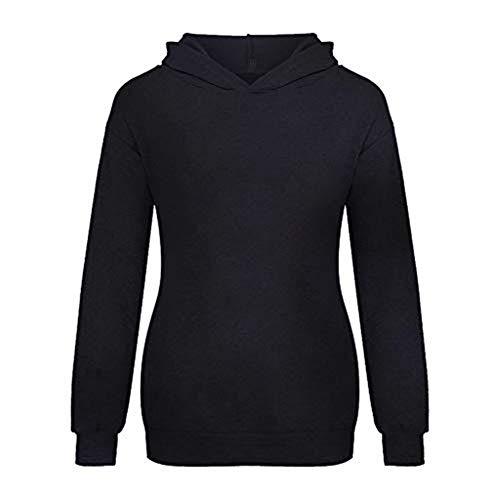 Dasongff dames pullover met hazenoren capuchon casual sport longshirt capuchontrui eenkleurig trui bovenstuk sweatshirt knuffelig capuchonpullover tops