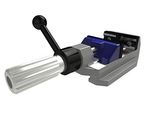 GRESSEL Bohrmaschinenschraubstock mit Spannhilfe (Typ Ecopos, Breite 100mm, Spannweite 0-100mm, Backen austauschbar)