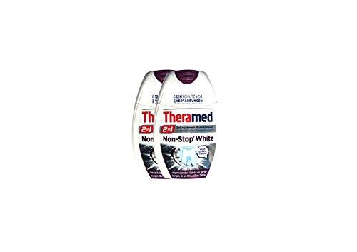 2x Theramed Non-Stop White Antibakterieller-schutz 2 in1 Zahncreme Mundspülung