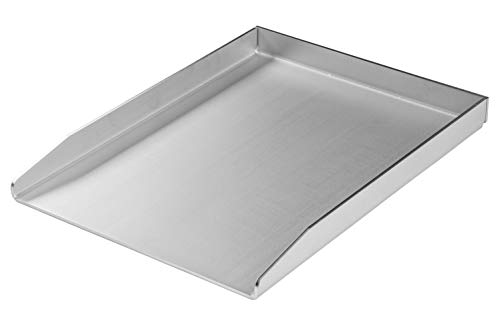 MaTaDa - Plancha de acero inoxidable maciza para barbacoa, 30 x 40 cm, tamaño universal, apta para muchas barbacoas de gas y de carbón