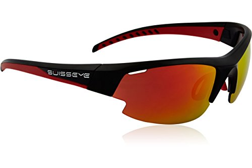 Swiss Eye Sportbrille Gardosa Re, Black Matt/Red
