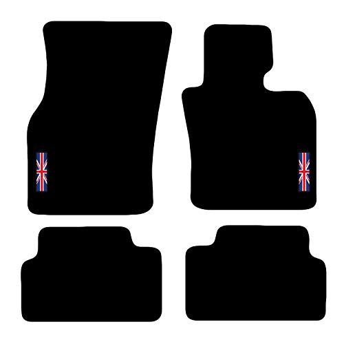 Carsio L23-CARP-CUT-3540-(2 x Velcro) Alfombrillas a Medida para Coche Mini 2015 en adelante F55 de 5 Puertas, Color Negro