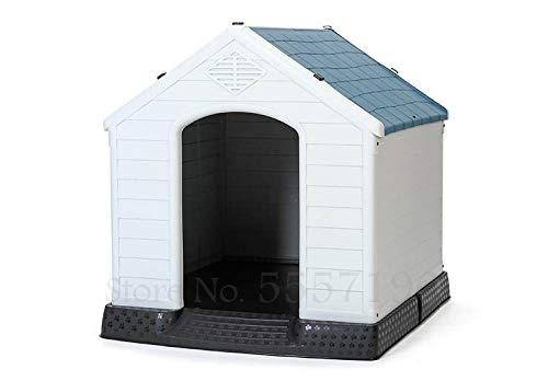 Kennel LKU Hondenhok winter gesloten type warme hondenkennel grote hondenhok buiten regendicht kennel hond, 81x76x87cm