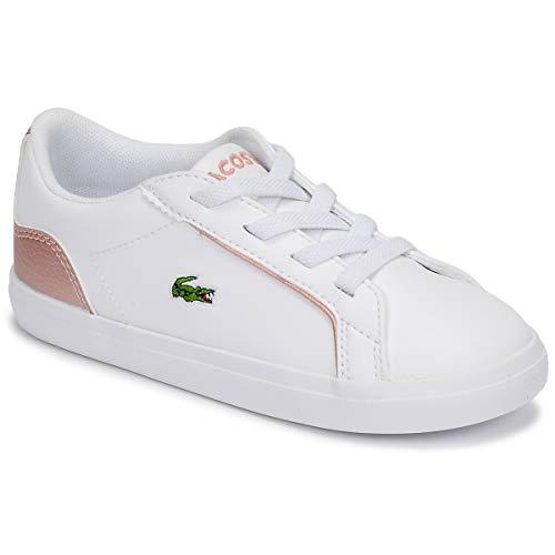 LACOSTE LEROND 319 2 CUJ Sneakers filles Wit/Roze Lage sneakers