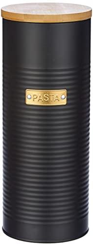 Typhoon OTTO Kollektion, schwarz, 2 Liter Spaghettidose, Stahl, Bambusholz, Silikon