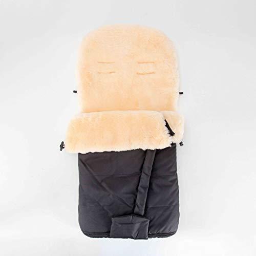 Merauno® Saco de abrigo para bebé de piel de cordero para cochecito, saco de abrigo de piel médica, resistente al viento y al agua, con ranuras para cinturón, 100 x 50 cm