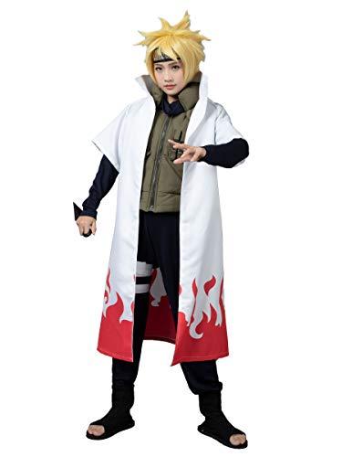 CosFantasy Namikaze Minato Cosplay Costume Cape mp002567 (Medium)