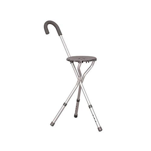 Homecraft wandelstok met zitting, driepoot, in hoogte verstelbaar