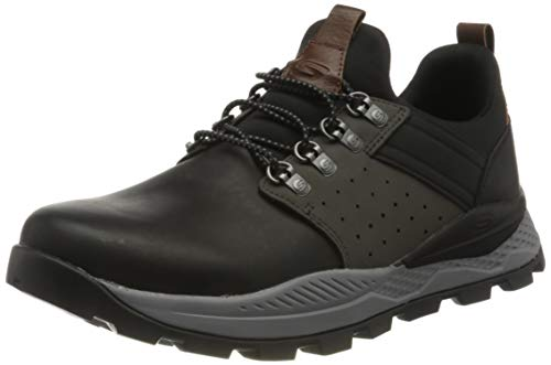 Skechers RIGLEN, Zapatillas para Hombre, Negro, Gris, 41.5 EU