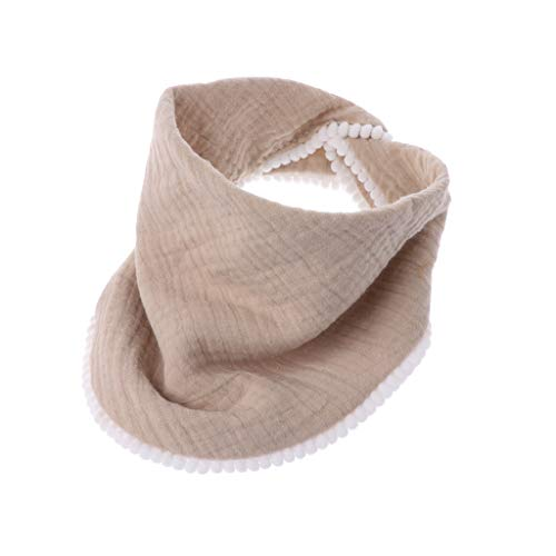 Hacloser Baby Burp Cloths Bibs for Boys Girls Bandana Soft Breathable Muslin Newborns Towel Scarf (Khaki)