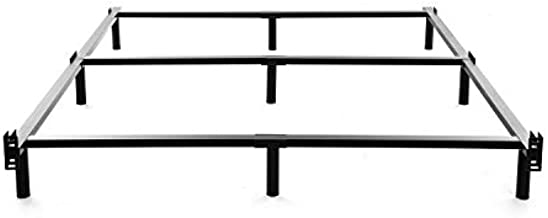King Size Metal Bed Frame-7 Inch Heavy Duty Bedframe, 9-Leg Support for Box Spring & Mattress Foundation, 3000LBS, Black