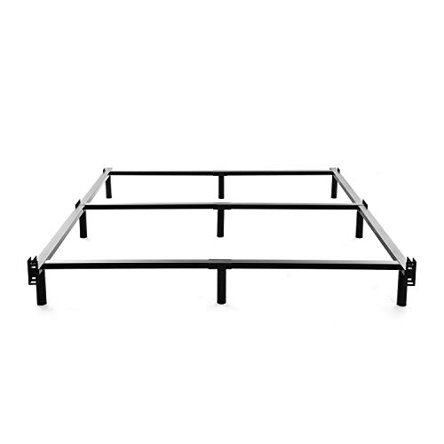NOAH MEGATRON Queen Size Metal Bed Frame-7 Inch Heavy Duty Bedframe, 9-Leg Support for Box Spring & Mattress Foundation, 3000LBS, Black