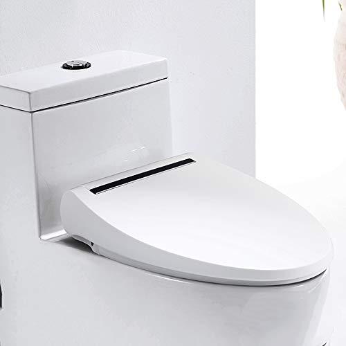 Vivarry Intelligenter Toilettensitz, beheizter Sitz, ovaler Toilettensitz, Wird Sich Niemals lösen, vorne offen, runder Toilettensitz aus Kunststoff