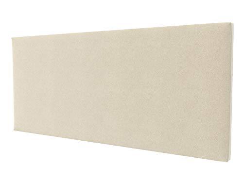 LA WEB DEL COLCHON - Cabecero tapizado Paros para Cama de 180 (190 x 70 cms) Beige Claro Textil Suave | Cama Juvenil | Cama Matrimonio | Cabezal Cama |