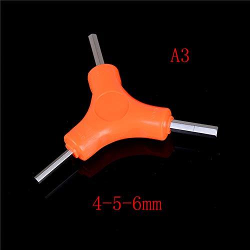 XNBCD schroefsleutel drieweg zeskant gereedschap (Y-type) staal verchroomd grootte voor racefiets mountainbike