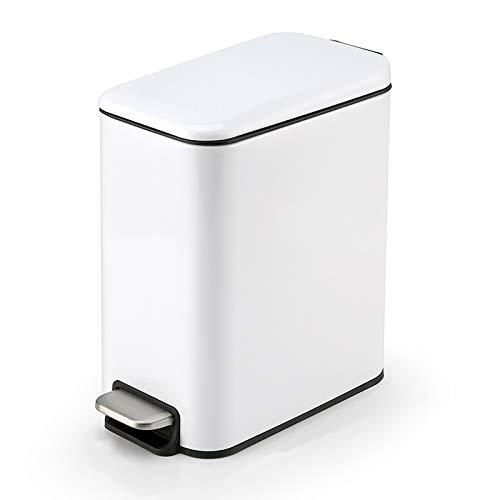 Poubelle La poubelle étroite en acier inoxydable boîte de poubelle de la pédale de ménage peut avoir une poubelle avec une couverture, une poubelle 5L / 1,3 gallon for la salle de bain, le salon et le