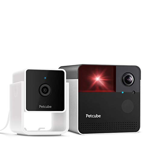 Petcube Cam with Play 2 Pet Cameras Bundle, Vet Chat Built-in, for Dogs and Cats. 1080p HD Video, 2-Way Audio, Sound/Motion Alerts, Night Vision, Pet Monitor