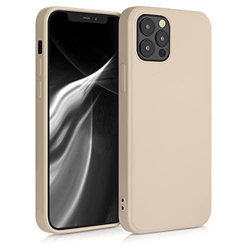 kwmobile Hülle kompatibel mit Apple iPhone 12/12 Pro - Hülle Handy - Handyhülle in Perlmutt