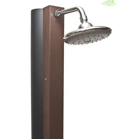 Crm-Ducha solar 30 L, diseño rústico, color marrón