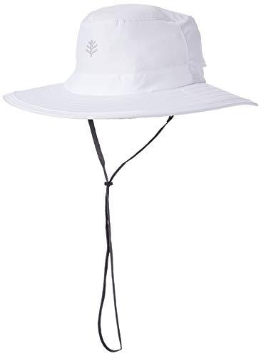 Coolibar UV-Schutz Hut Mit Versteckbarem Nackenschutz, Weiß, S/M