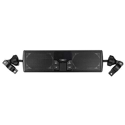 JenNiFer Waterdichte Motorfiets Mp3 Usb Fm Radio Audio Stereo Led Speaker Met Bluetooth Functie Electische Scooter Bike Universeel Zwart