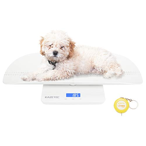 Pet Scale, Multi-Function Baby Scale, Digital Toddler Scale with Hold Function, Infant Scale Measure Adult/Puppy/Cat/Dog Weight(Max:220lb) and Height(Max:60cm) Accurately, Precision at ± 10g, KG/LB/OZ