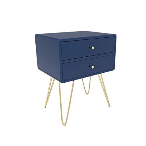 TXXM® Herstellung Nachttisch Schlafzimmer Spind, Schlafzimmer Nachttisch, Wohnzimmer Locker, Wohnzimmer Sofa Seitenschrank Praktische Möbel (Color : Blue)
