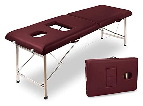KSDCDF Aluminium Plier Massage Spa Lit d'esthétique Tatouage Salon Lit Pliant Table de Massage...
