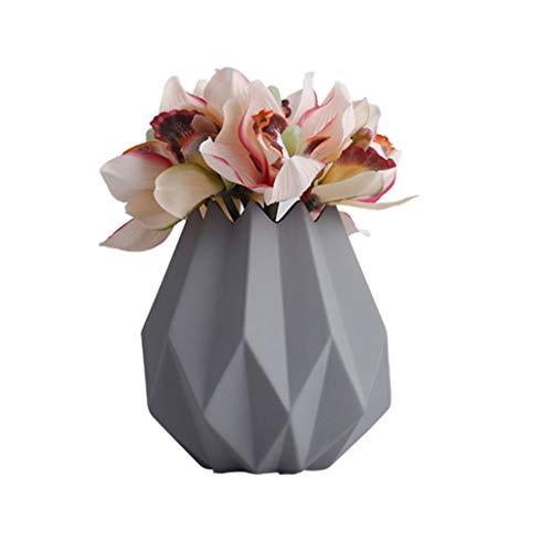 Keramische vaas Handmade Crafts kan worden uitgerust met Water for planten Telen kan worden geplaatst In onderdeel tv kabinet, huishoudens, kantoren, Wedding (Color : Purple)