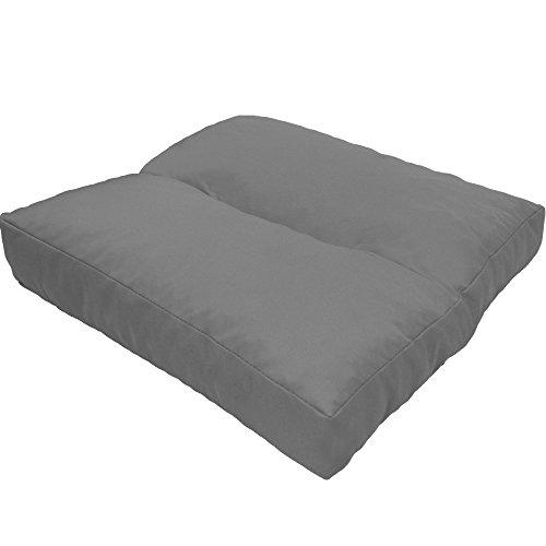 DILUMA Coussin d'assise LoungeWave pour Jardin - Coussin Outdoor Anti-salissants pour bancs, sièges en pallete, Chaise de Jardin, Taille:50 x 50 cm, Couleur:Gris