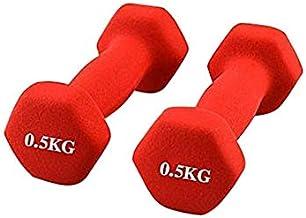 Pro Hanson Rubber Dumbbell 0.5 Kg - Red