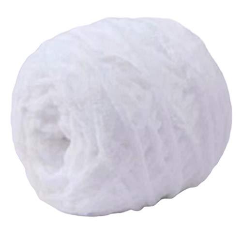 NDGDGA Wool Yarn for Knitting, Soft Gold Velvet Knitting Yarn DIY Shawl Scarf Crochet Thread Woollen Yarn Milk Cotton Chunky Hand-Woven Warm Soft Knitwear (A)
