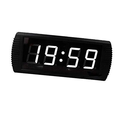 ZhenHe LED de alarma digital relojes 3 pulgadas LED Digital reloj de cuenta atrás Countdown Minutos Segundos de temporización del temporizador de cuenta atrás con control remoto (Color: Negro, Tamaño: