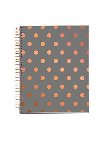 MIQUELRIUS 47717 - Cuaderno A5, tapa dura, 120 Hojas Cuadrícula Interior 4 Colores Topos