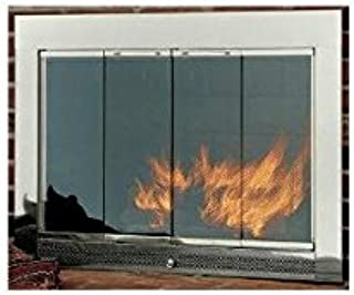 Hearth Craft 04913f Slimline4029Sn Fireplace Door-Masonry, Satin Nickel, 40 x 29 In.