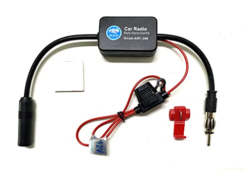 Universal Auto Car Radio FM Antenna Signal Booster Radio Signal Amplifier for Marine Car Vehicle Boat RV 12V Signal Antenna Enhance