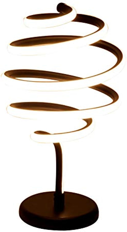 XFF Grünikale Spiral Tischlampe Warmwei Modern Minimalistisch Schreibtischlampe Zuhause Kreativ Dekoration