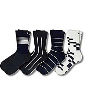 Pair of Thieves Patterned Men s Crew Socks 4 Pack Spazzy Lines One Size