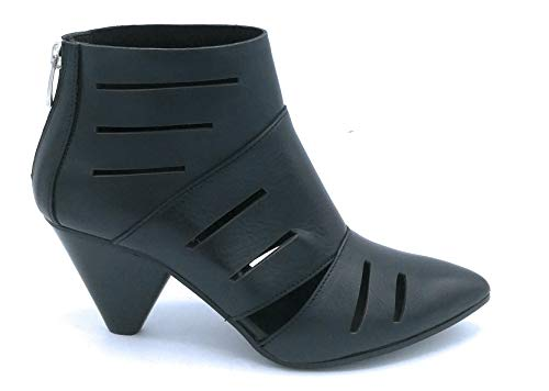 Janet 43654 laarzen Nappa zwart ritssluiting achter 7 cm - schoen 40 kleur zwart