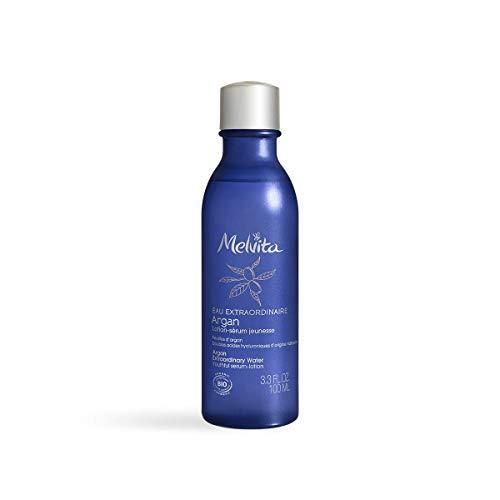 Melvita - Lotion hydratante Repulpante anti-âge - Sérum Eau Extraordinaire d'Argan Bio - Rituel de Soin Jeunesse - Soin Vegan Naturel à 99% et certifié bio - Acide hyaluronique Naturel - Flacon 100ml