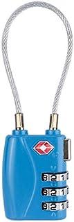 JinEamy In lega di zinco 3 cifre password TSA blocco da viaggio bagagli lucchetto (Color : Blue)