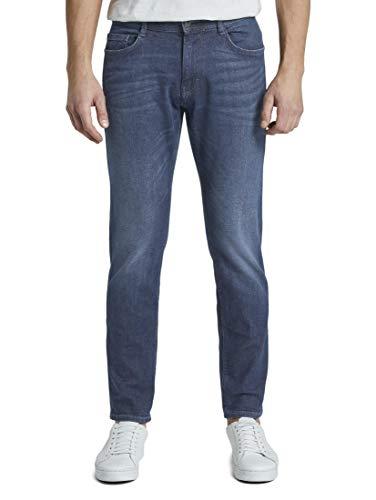 TOM TAILOR Herren Jeanshosen Josh Regular Slim Jeans Dark Stone wash Denim,31/32,10282,6000