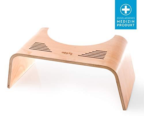 HOCA Holz Tabouret pour Toilette Physiologique en Bois Contre Hémorroïdes, Constipation, Intestins Irritables,...