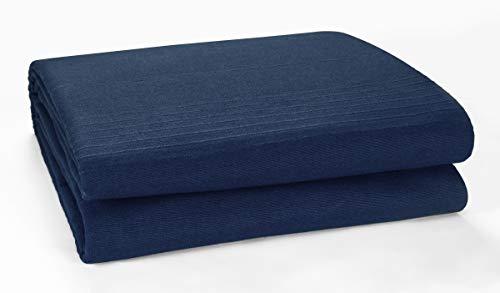 EHC Classic Rib Cotton Throw, Sofa Settee Bed Throw Bedspread - 250cm x 250cm (100