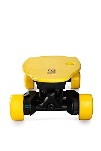 Helvei Unisex Longboard Dual Motor, 1800 W - Black/Yellow